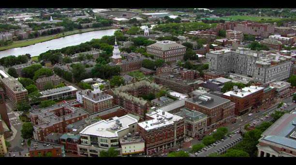 پلان دانشگاه هاروارد - آمریکا - تصویر از بالا