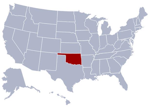 اوکلاهما کجاست - موقعیت جغرافیایی ایالت اوکلاهما در آمریکا